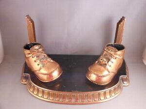 Art Deco Bronzed Baby Shoe Copper Ashtray