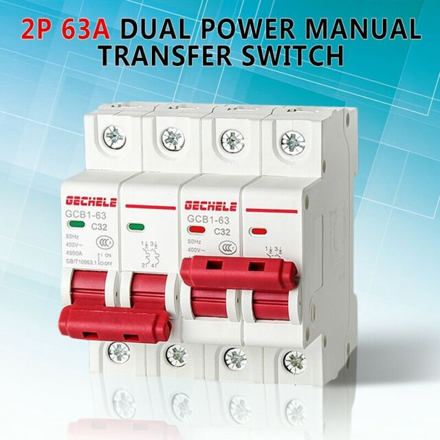 Dual Power Manual Transfer Switch For Generator Changeover