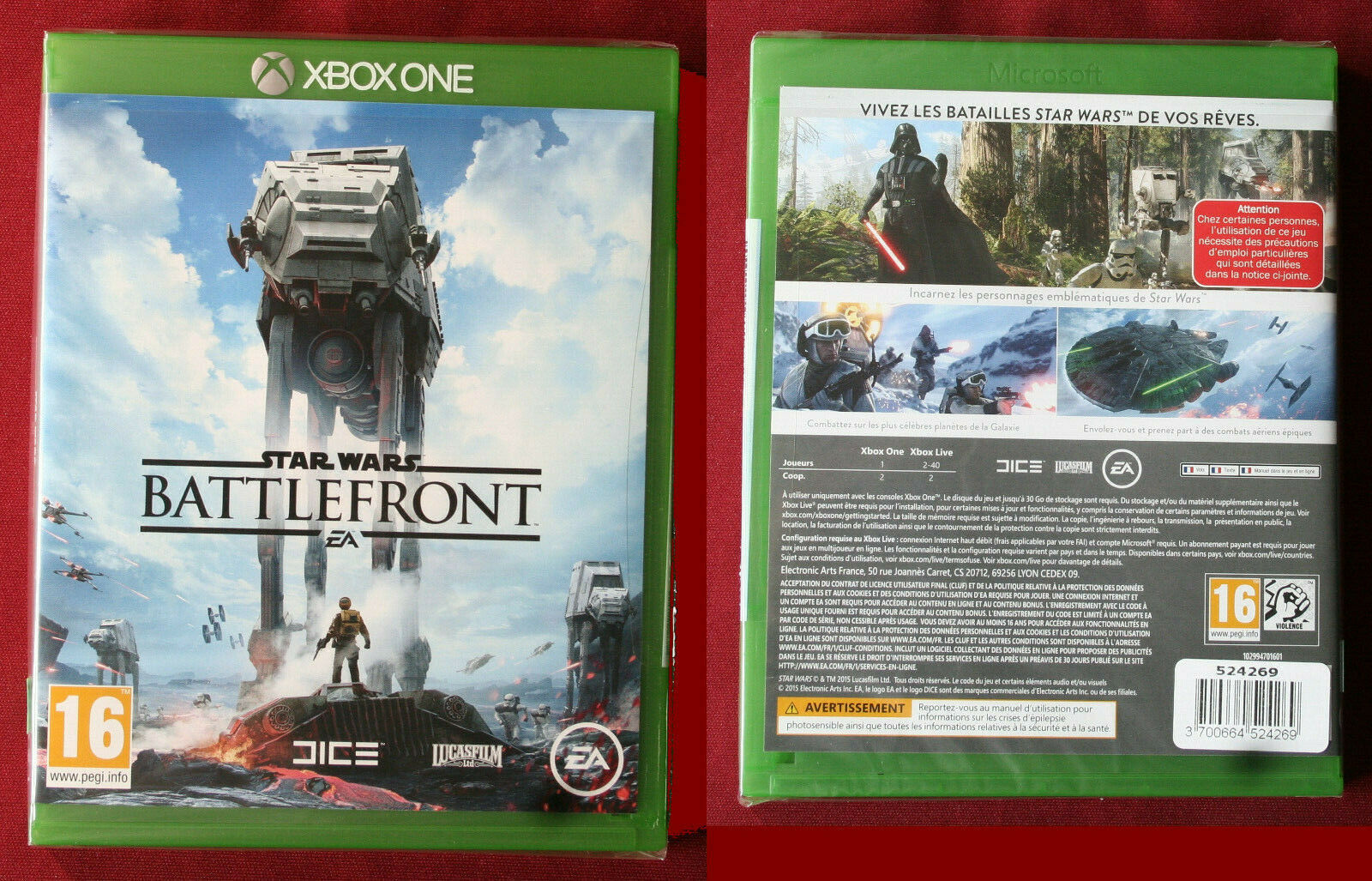 XBOX one , jeu STAR WARS BATTLEFRONT,  neuf - Avis StarWars