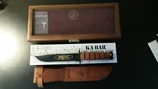 KA-BAR PEARL HARBOR USMC MILITARY FIGHTING UTITILTY KNIFE 1219C2 W / BOX & CASE