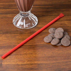 Super Jumbo Red Spoon Straw Smoothies Slushies Shakes Free Shipping US Only
