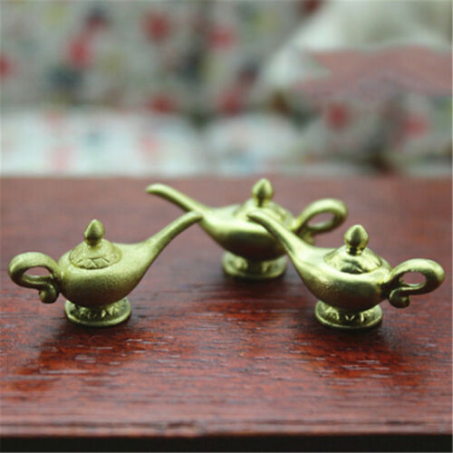 Dollhouse Miniature Mini Gold Teapot Toy Model Kids Gift