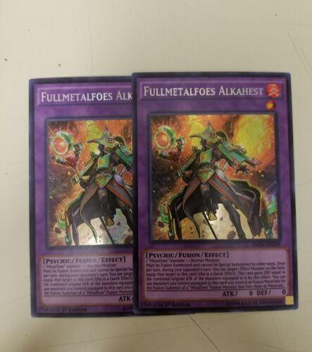 2x Fullmetalfoes Alkahest INOV-EN039 Secret Rare First Edition