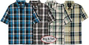 Big-amp-Tall-Men-s-Dickies-Relaxed-Fit-Plaid-Camp-Shirt-3XL-6XL-3XLT-6XLT