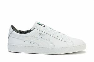 Image is loading Puma-Mens-Sneakers-Basket-Classic-Textured-White-360191-