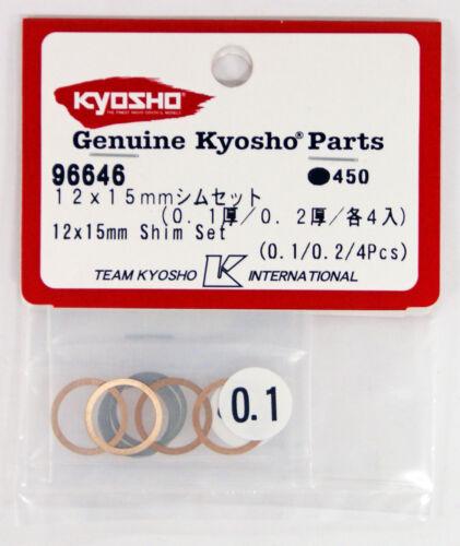 0.1 épaisseur//0.2 épaisseur//4 Chaque chaque Kyosho 96646 12 x 15 mm Shim Set