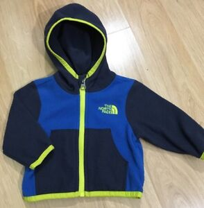 ca4998d8c Details about The North Face Fleece Baby Toddler Size 0/3 Months Blue  Yellow Full Zip