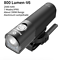 Bike Light Rainproof USB Rechargeable LED 2000mAh MTB Front Lamp Headlight