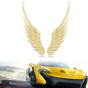 2pcs 3d metal angel hawk wings emblem badge decal car logo sticker