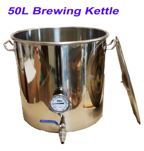 50L Stainless Steel HomeBrew All Grain Mash Brewing Kettle BrewinBag Kettle