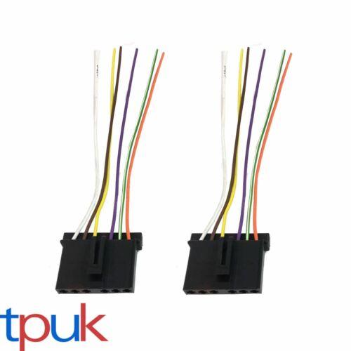 2 x Ford Transit MK6 MK7 Luz Trasera Soporte De Lámpara Telar de alambre cable conector Plug