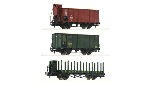 Bay STS K ROCO h0 76094 3 Pezzi Set: carri merci B Merce Nuova