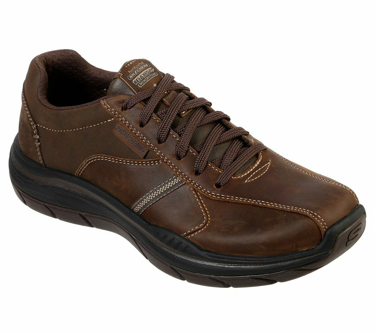 Skechers Relaxed Fit  Expected 2.0 - Belfair Trainers 66419 Mens Leather schuhe