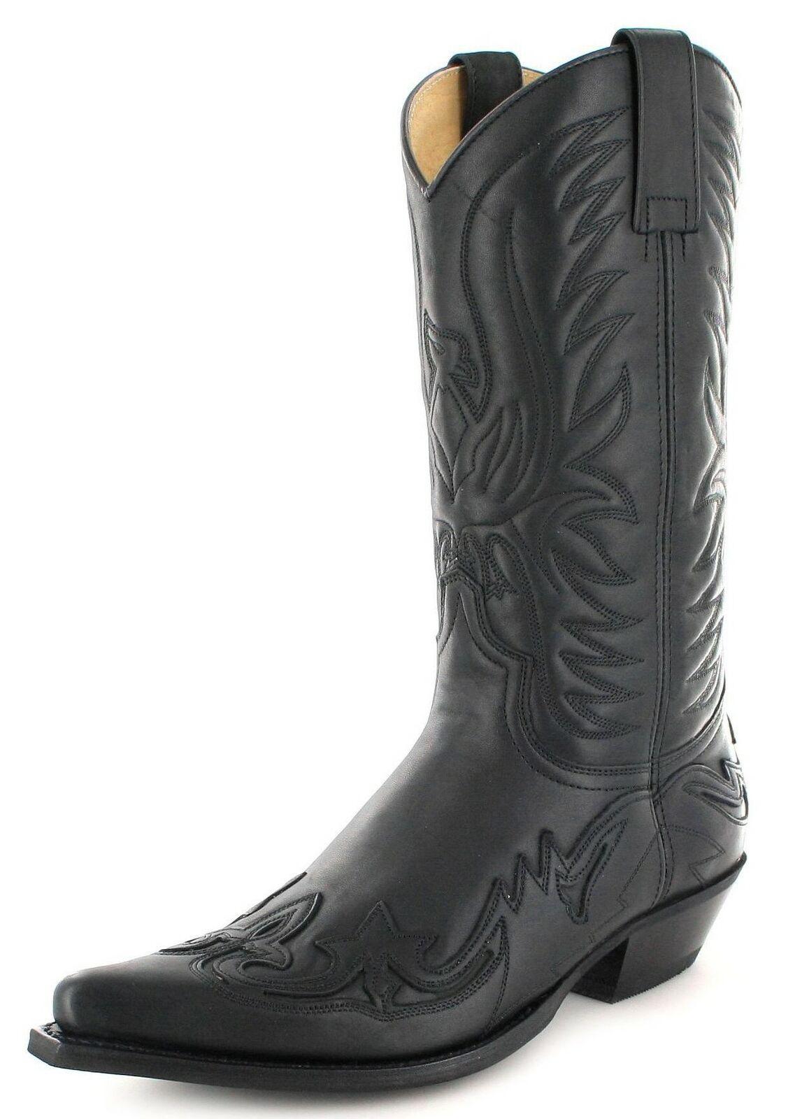 Fashion Boots Stiefel BU1005 black Westernstiefel Cowboystiefel