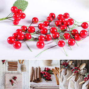 Image Is Loading 100pcs Simulation Cherry Small Red Fruit Foam DIY