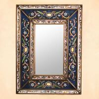 Home Decor Artistic Handcrafted Painted Peruvian Wall Mirror (floral Design)