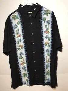 BATIC-BAY-Men-039-s-XL-Short-Sleeved-Hawaiian-Shirt-Palm-Trees-CAMP-ALOHA-RN-13185