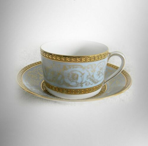 Haviland-china-rare-Edith-Pascal-or-Pascale-pattern-cup-and-saucer-FREE-SHIP