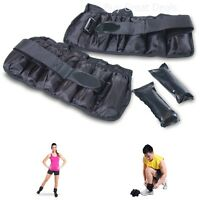 Adjustable 10-pound Ankle Wrist Weights Fitness Aerobic Training Strength