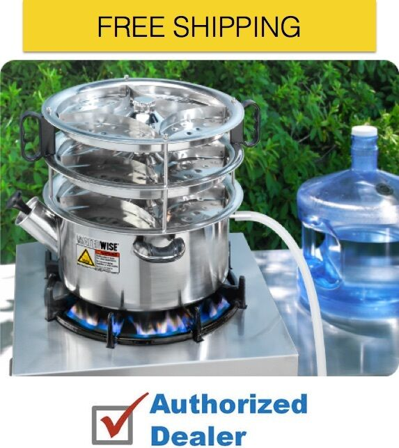 New Waterwise 1600 Non-Electric Water Distiller, Free Shipping,Authorized Dealer