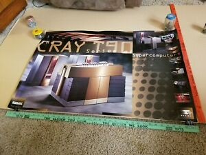 LG-Vintage-1995-Cray-Research-T90-Supercomputer-Poster-Sign-Chippewa-Falls-WI
