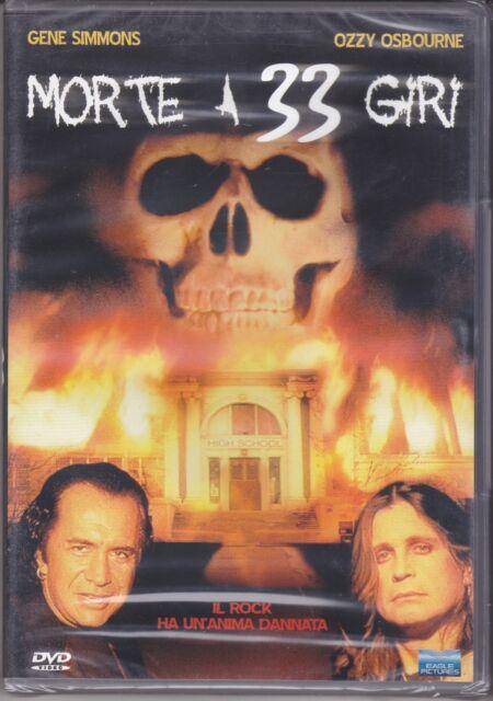 Dvd **MORTE A 33 GIRI** con Gene Simmons Ozzy Osbourne nuovo 1986