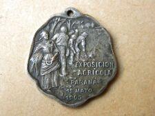 Antique Metal Medal Commemorative Agricultural Exhibition 1905