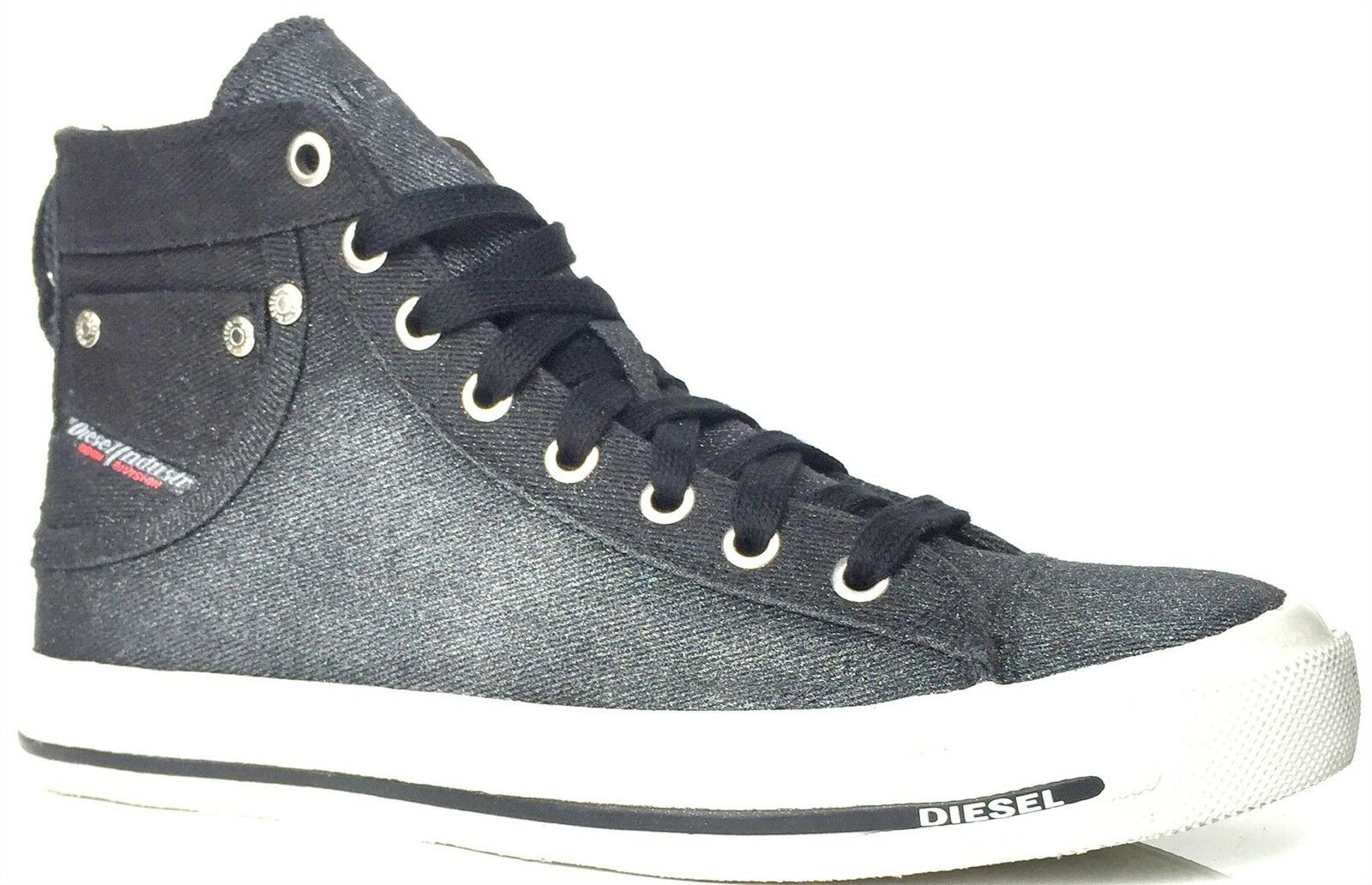 Diesel Exposure IV W Noir Glitter Womens Canvas Trainers Boots