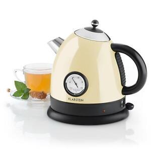 Retro-Wasserkocher-Teekocher-Wasserkessel-Edelstahl-Temperaturanzeige-1-5L-Creme