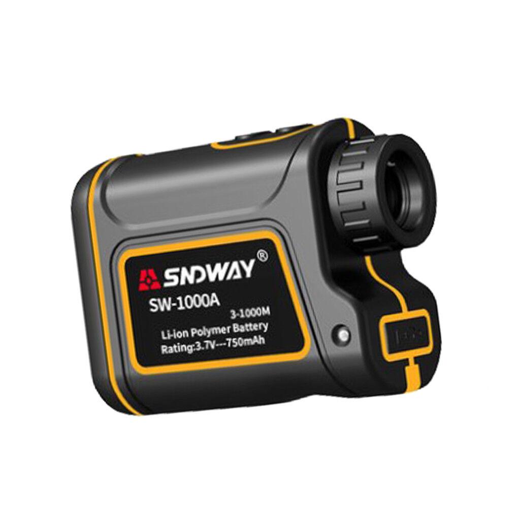 Distancia Laser Digital De Mano sndway 1000M Telémetro Medidor de caza
