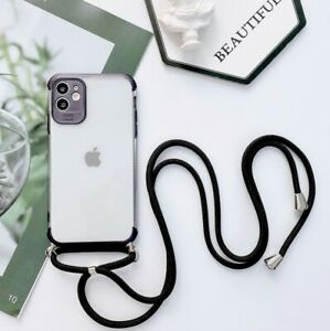 COQUE IPHONE+CORDON SILICONE IPHONE 7 8 11 IPHONE X XS XR IPHONE 11 PRO (NOIR)
