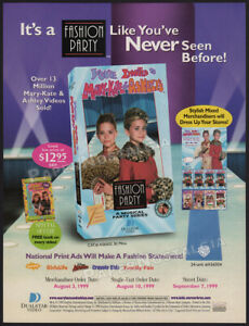 MARY-KATE-amp-ASHLEY-Fashion-Party-Original-1999-Trade-AD-ADVERT-Olsen-Twins