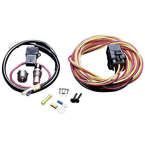SPAL 195FH 195 Degree THERMOSTAT Thermo-Switch Relay /& Wiring Harness Kit