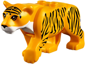 Lego-Tiger-Animal-Cat-from-Jungle-set-60162-RARE