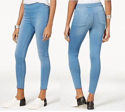 FREE PEOPLE Womens Easy Goes Jeggings Skinny Jeans High Waist Legging L Blue