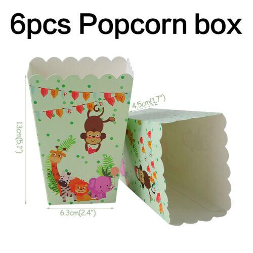 Birthday Party Tableware Animal Disposable Plates Cups Napkin Set Supplies Decor