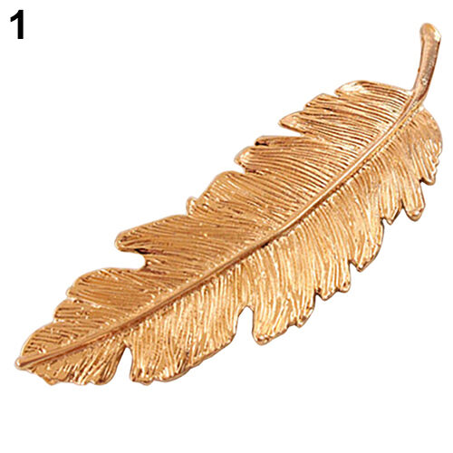 Women's Natural Style Leaf Hair Clip Pin Claw Leaves Hairpin Barrette Accessory