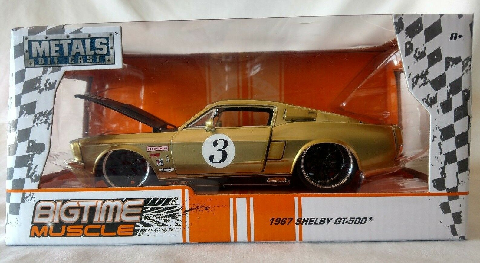 JADA TOYS 1967 SHELBY GT-500 BIG TIME MUSCLE 1 24 SCALE DIECAST