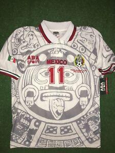 e5f2c4fa7a4 Image is loading MEXICO-AWAY-1998-Cuauhtemoc-Blanco-WC-98-SIZE-