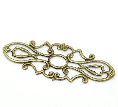 200 Connecteurs Fleur Filigrané Couleur bronze 3.8cm x 1.5cm