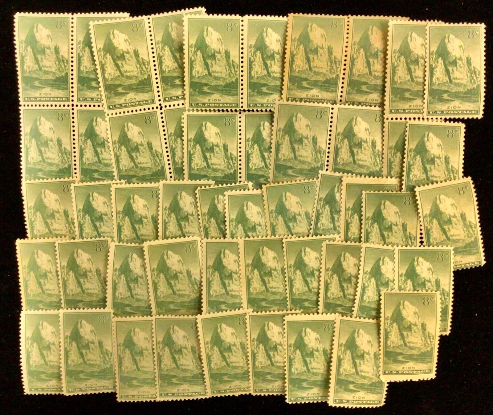 747 Zion Park  National Parks Year Issue 50 MNH 8 c stamps   1934