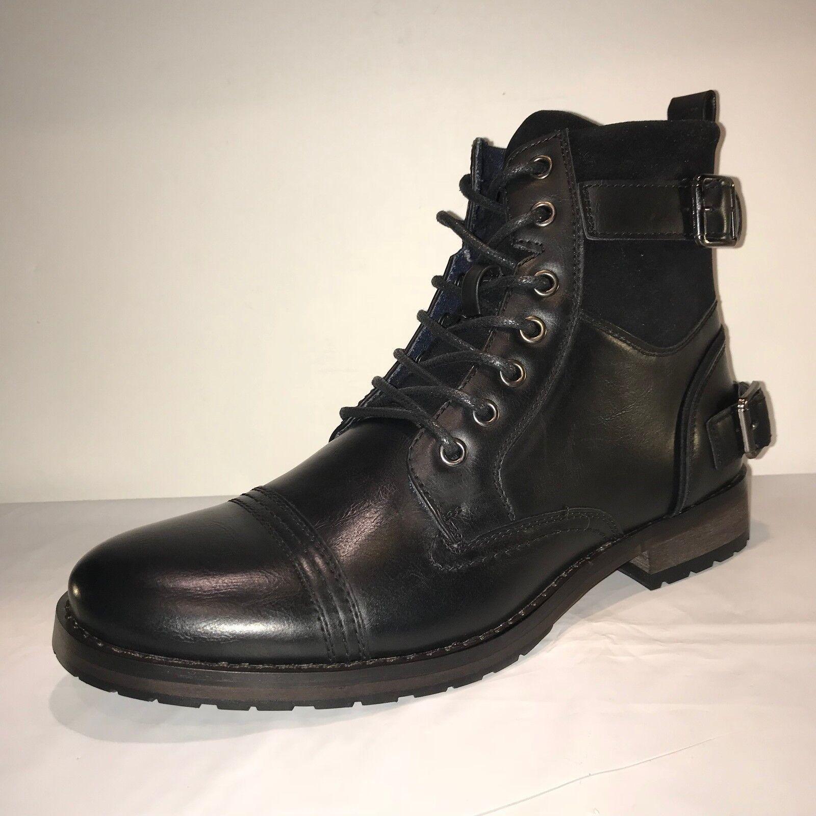 D-715 questori pizzo Uomo pizzo questori nero lato chiudi casualmente stivali cd0020