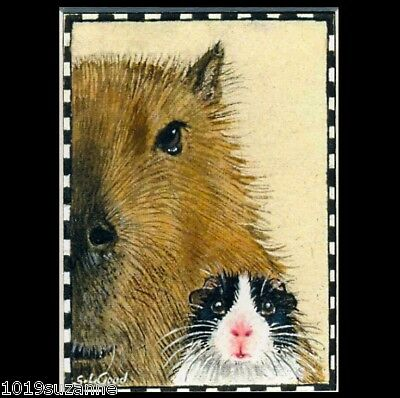 Rat art print Limited Edition mounted from original painting by Suzanne Le Good