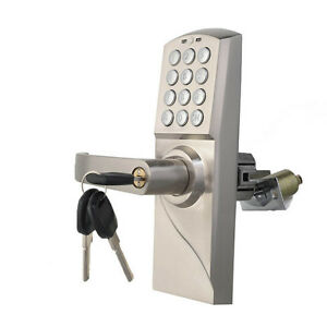 digital electronic code keyless keypad security entry door lock right handle. Black Bedroom Furniture Sets. Home Design Ideas
