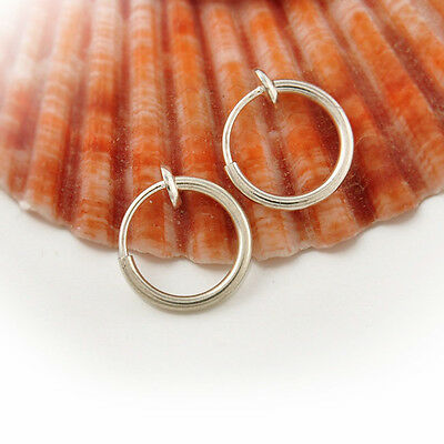 Stylish 3 Colors Fake Spring Action Non Piercing Nose Septum/Ear Cartilage Ring