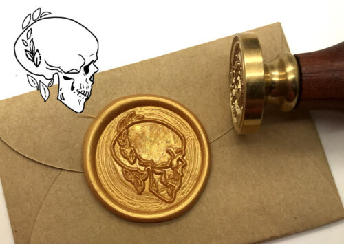 Skull Wax Seal Stamp Sealing Wax Stamp Wedding Invitation Stamp