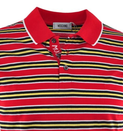 a righe rosse Polo 03340 strisce Moschino rosse rossa a wH1HpSqxYX