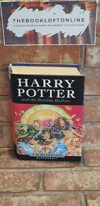 Harry-Potter-and-The-Deathly-Hallows-Hardback-F-E-Christmas-Dust-Jacket-TBLO