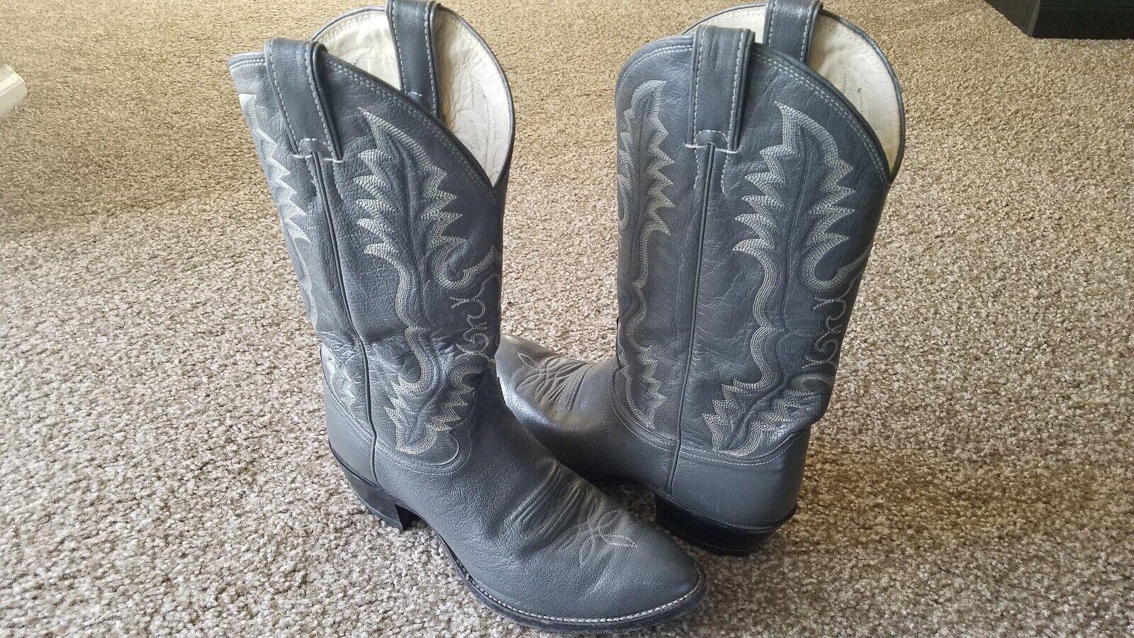 Vintage Justin botas exótico gris Tamaño D 10 estilo 1278 Vaquero suavemente desgastados