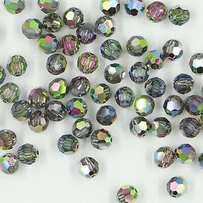 5000 8 SA *** 6 perles cristal RONDES réf 8mm SAPPHIRE 5000 de Swarovski